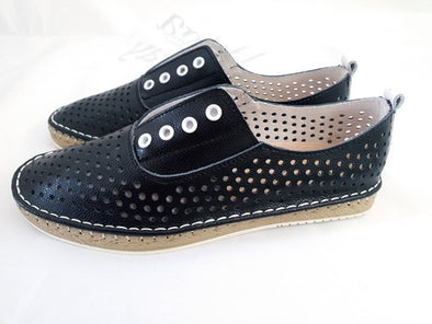 HM Black & White Vera Leather Shoe