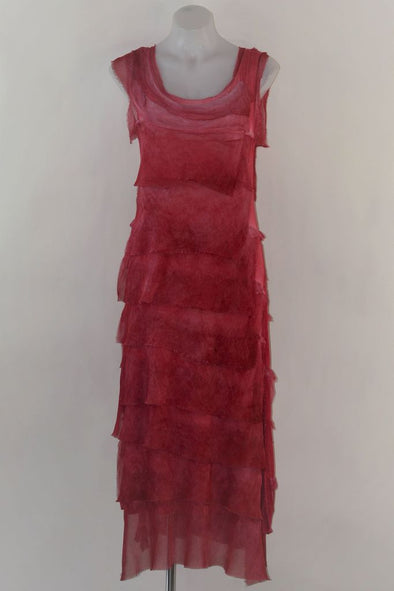 Italian Silk Layered Maxi Dress