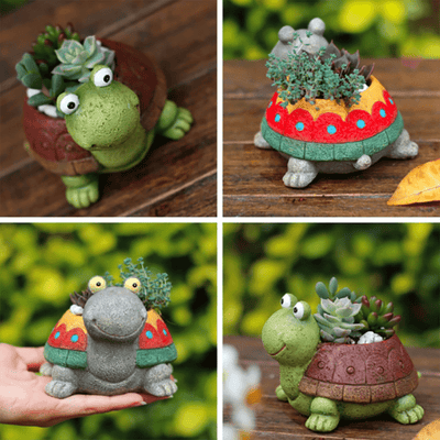 Cute Turtle Plant Flower Pots