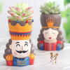 King Queen Soldier Succulent Plant Pots