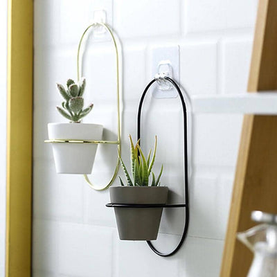 Little Iron Hanging Geometric Planter (Set Of 2)