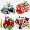 Set of 4 - Cute Retro Vehicle Succulent Planters