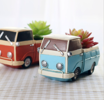 Set of 4 - Retro Vintage Truck Succulent Planter
