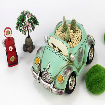 Set of 4- Retro Car Succulent Planters