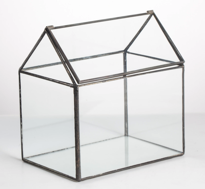 House-shaped Glass Terrarium