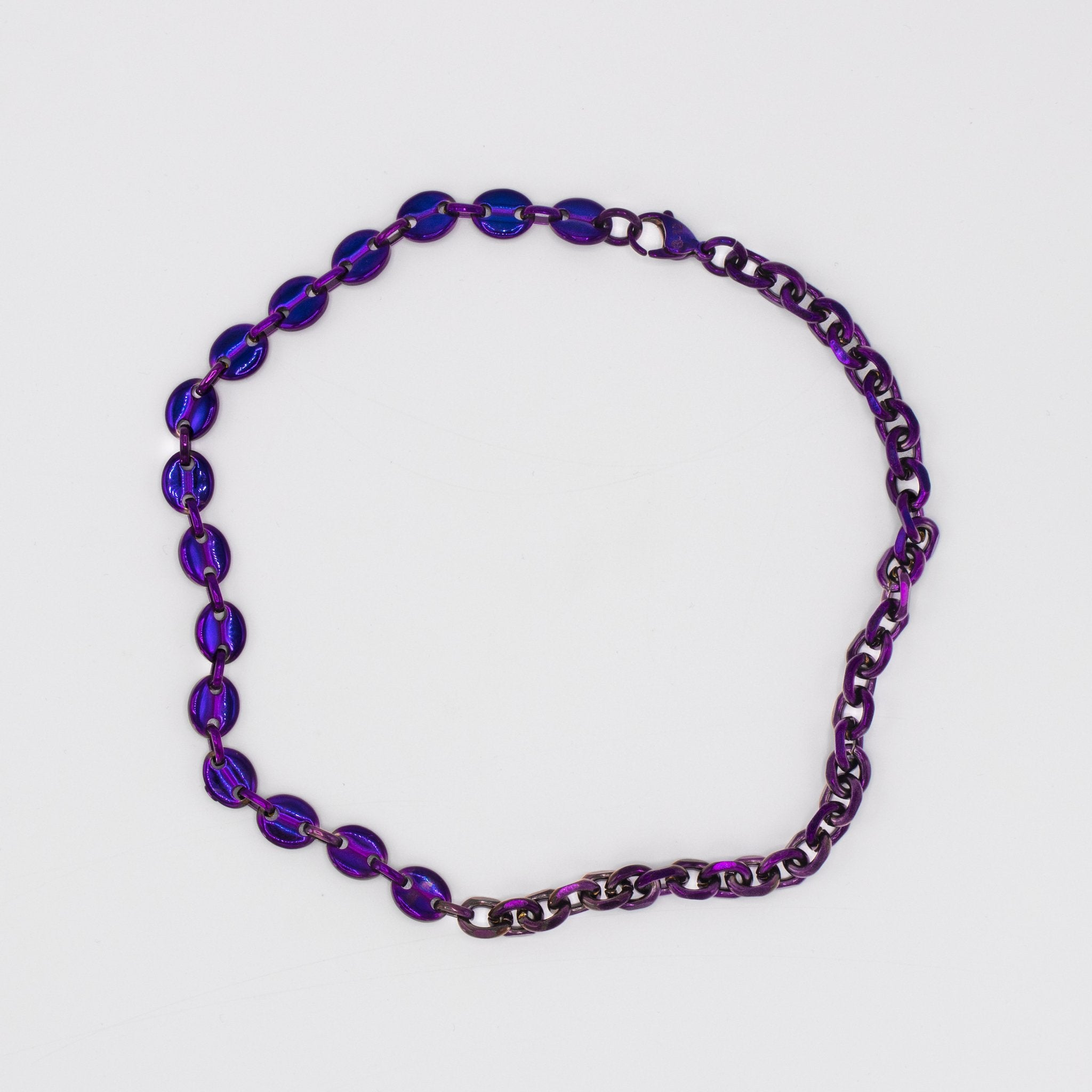 Cable/Puff Chain Purple