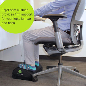 ErgoFoam Adjustable Desk Foot Rest for Added Height