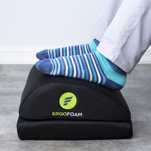 ErgoFoam Adjustable Foot Rest for Added Height (Mesh)