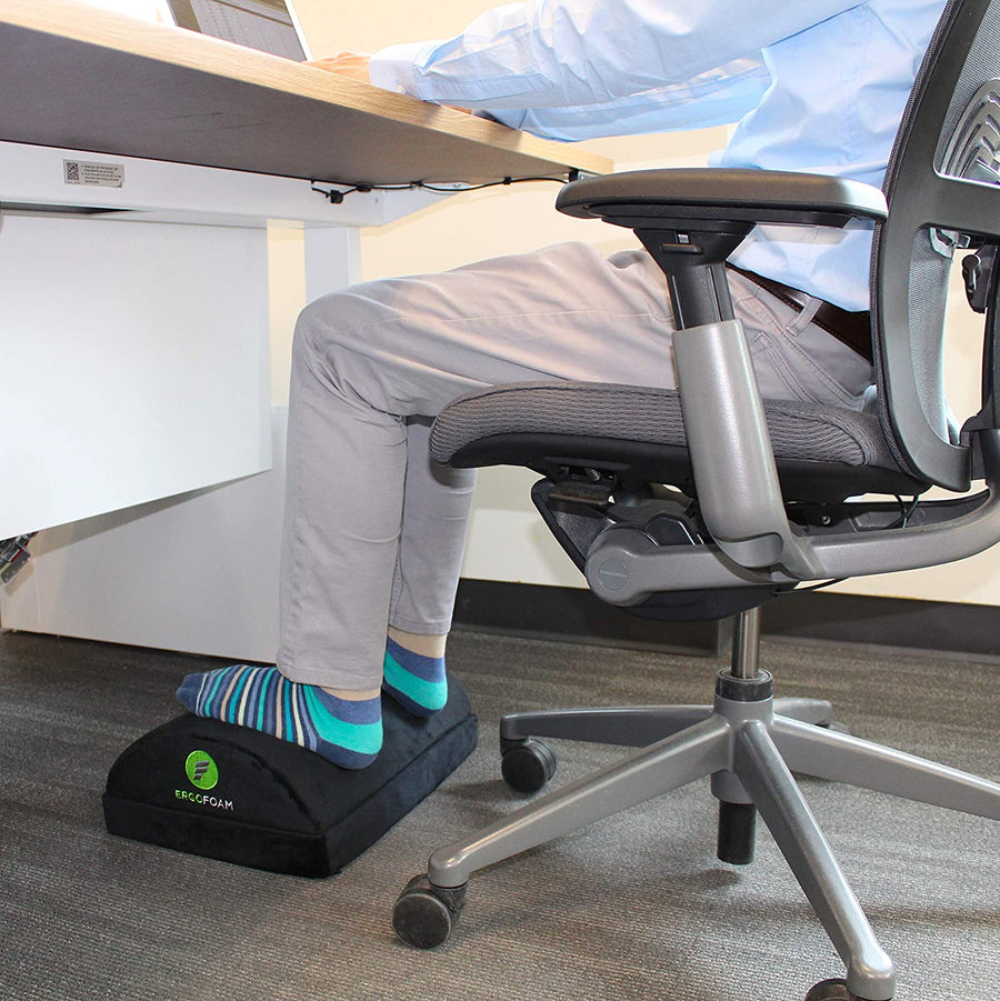 ErgoFoam Adjustable Foot Rest Under Desk for Added Height