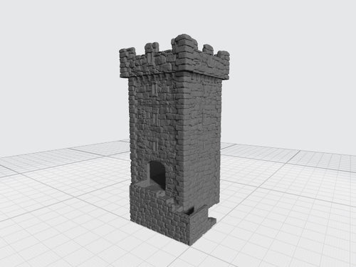 DRF - Stone Watchtower w/Crenellations