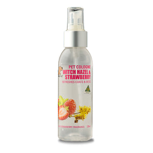 SmileyDog-Aqua Pet Cologne Witch Hazel & Strawberry 125ml.