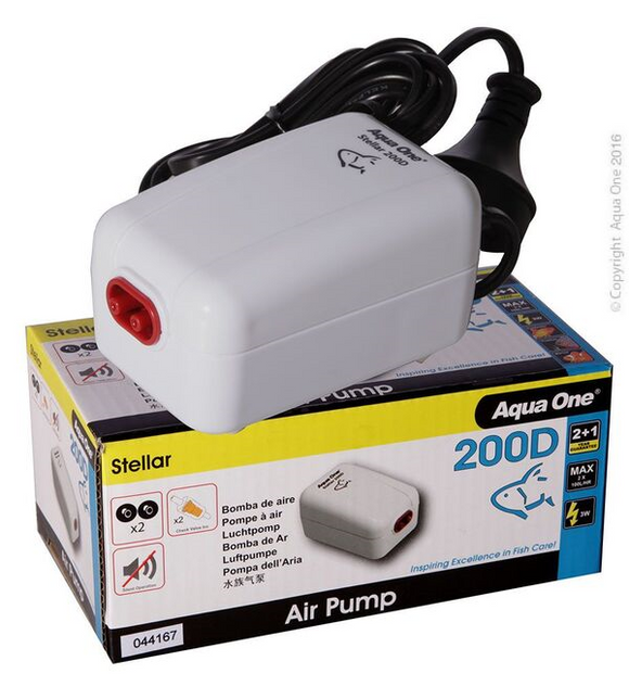 Aqua One Stella Air Pump 200D.