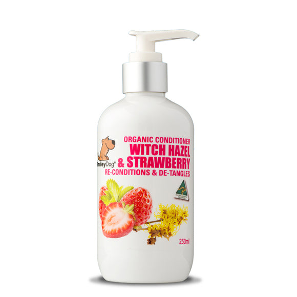 SmileyDog-Organic Conditioner Witch Hazel & Strawberry 250ml.