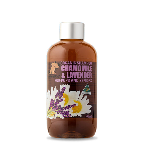 SmileyDog-Organic Soap Free Shampoo Chamomile & Lavender For Pups And Seniors 250ml.