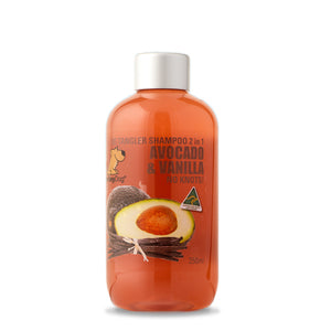 SmileyDog-2 In 1 Shampoo / De-Tangler* Avocado & Vanilla - No Knots 250ml.