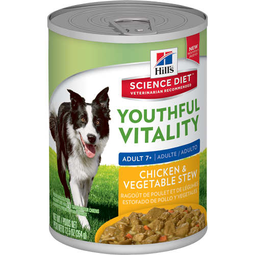 Hills-chicken-and-vegetable-stew-Adult 7+,354g Canned Dog Food.