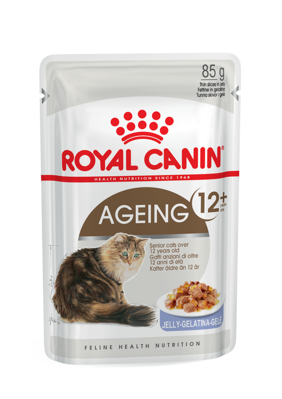Royal Canin-Ageing +12-Jelly-12 x 85g Pouches.
