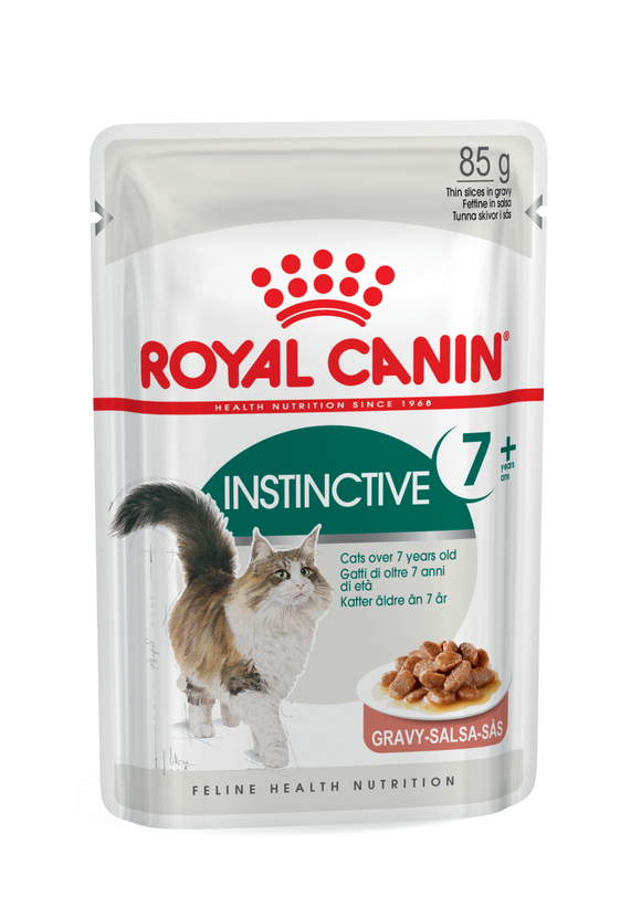 Royal Canin-Instinctive +7 Yrs-Gravy-12 x 85g Pouches.