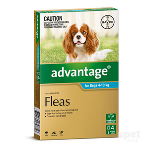 Advantage 4 pk for dogs 4-10kg.