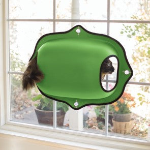 K&H  Window Pod Kitty Sill, Green.