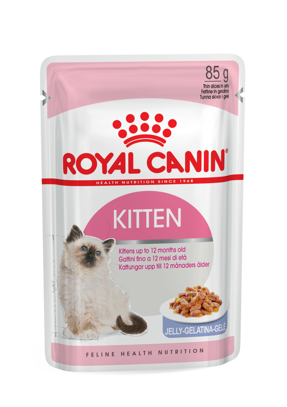 Royal Canin -Jelly-Kitten-12 x 85g Pouches.
