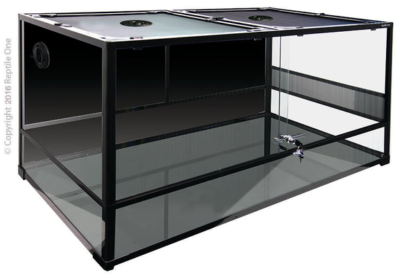 RTF 1200s Glass Terrarium Hinged Doors.Comes Flat Packed.