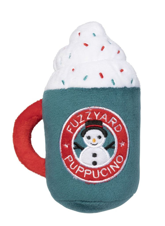 Fuzzyard Christmas Puppuccino Dog Toy.
