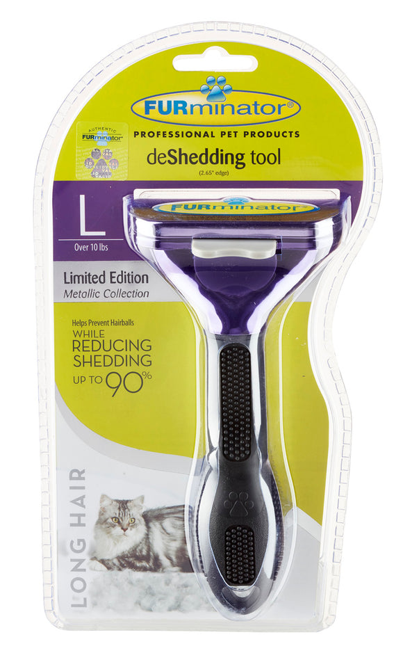 FURminator Large Cat Long Hair Deshedding Tool.