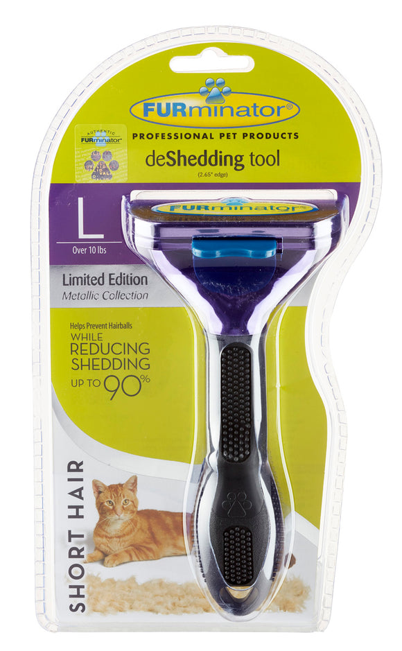 FURminator Large Cat Short Hair Deshedding Tool.