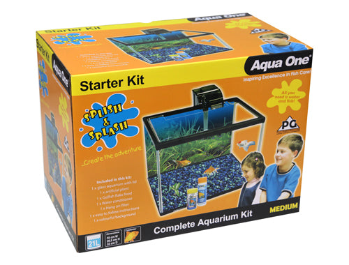 Aqua One 21L starter kit splish n splash fish tank.