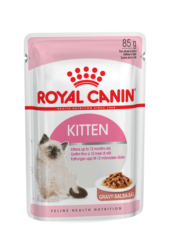 Royal Canin-Kitten-Gravy- 12 x  85g Pouches.