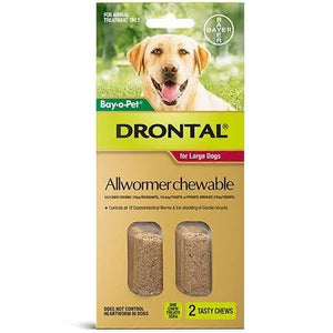 Drontal Allwormer For Large Dogs 2pk.