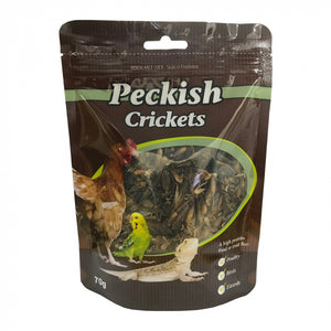 Peckish Dried Crickets 70g.