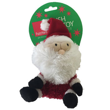 Fuzzyard Fat Santa Plush Dog Toy Small.