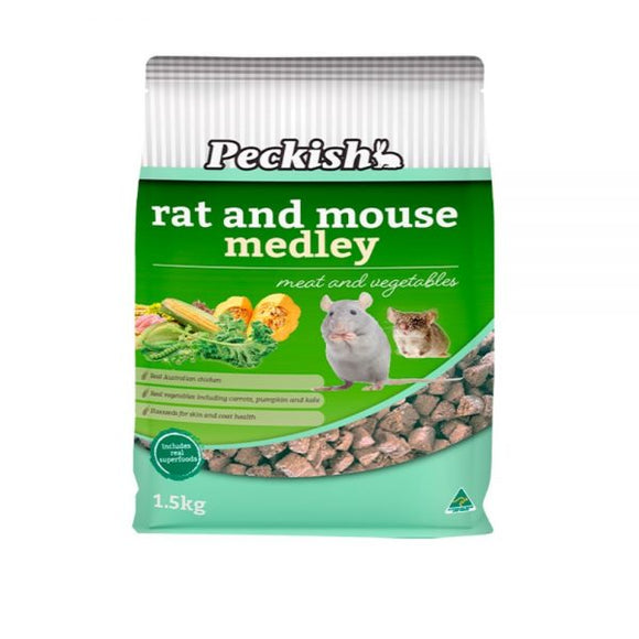 Peckish Rat and Mouse Medley Meat and Veg 1.5kg.