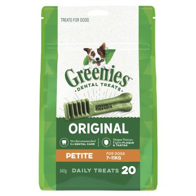 Greenies Dental Chew Petite for dogs 7 - 11kg - 340g  ( 20 treats)