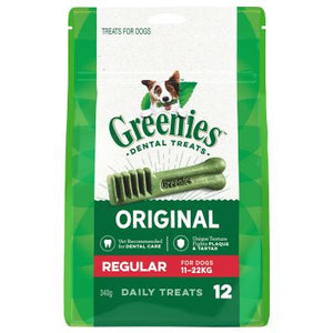 Greenies Dental Chew-Regular For Dogs 11-22kg,Original-510g-(12 Treats).
