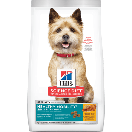 Hills-Adult Healthy Mobility Small Bites, Dry Dog Food 1.81kg.