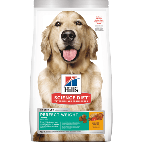 Hills-Adult Perfect Weight Dry Dog Food 1.81kg.