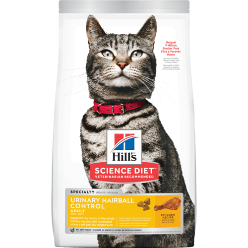 Hills-Adult-Urinary-Hairball-Control, 1.58kg Dry Cat Food.