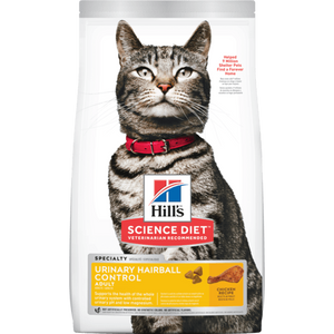 Hills-Adult-Urinary-Hairball-Control, 3.17kg, Dry Cat Food.