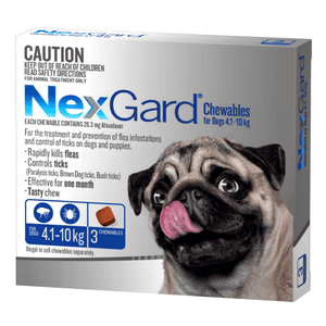 NexGard For Dogs 4.1-10 kg.3Pk.