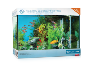 Blue Planet 16lt Glass Fish Tank.