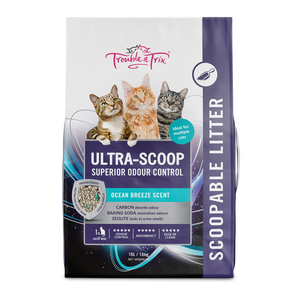 Trouble & Trix Ocean Breeze Scent Scoopable Litter 10kg.