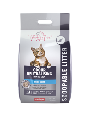 Trouble & Trix Baking Soda Clumping Litter 15kg.
