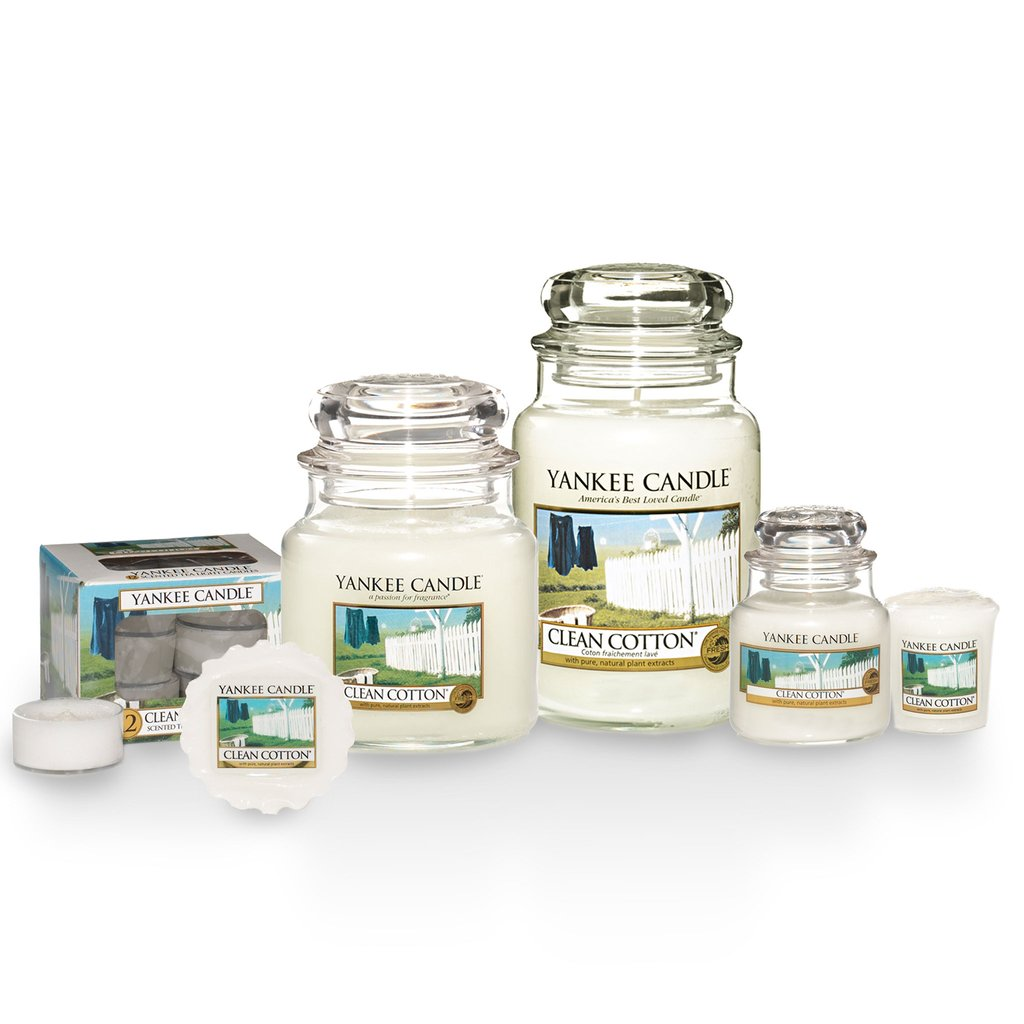 CLEAN COTTON -Yankee Candle- Car Jar Confezione Bonus da 3