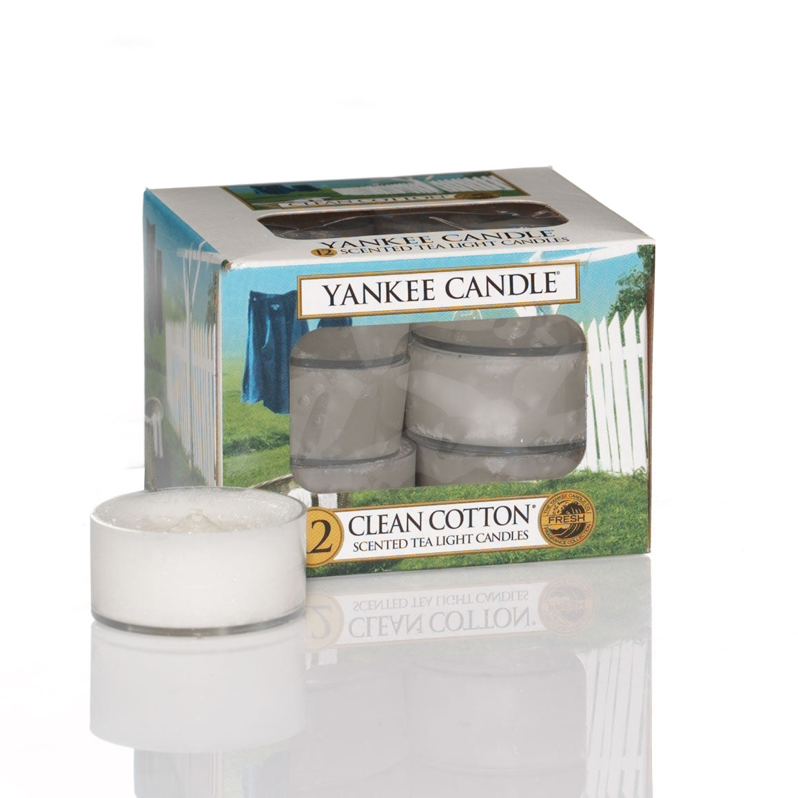 CLEAN COTTON -Yankee Candle- Tea Light