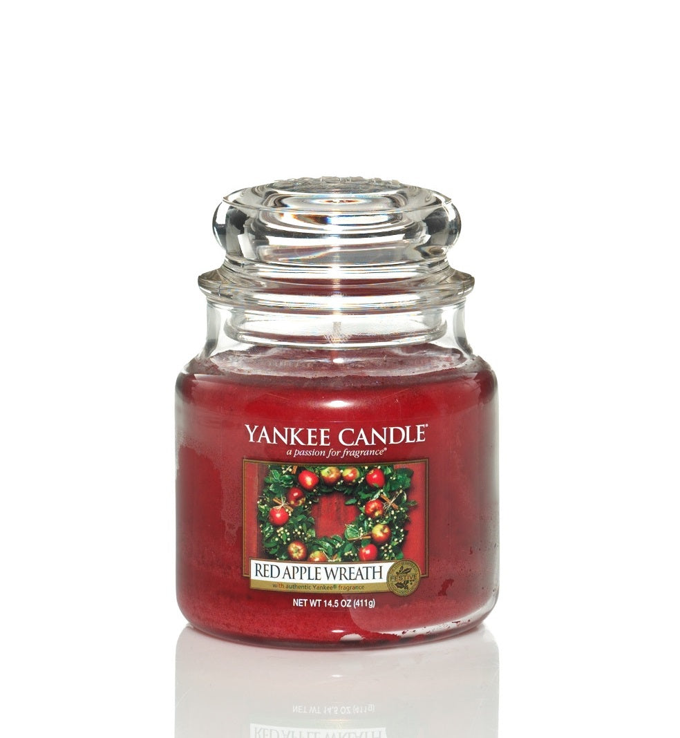 RED APPLE WREATH -Yankee Candle- Giara Media