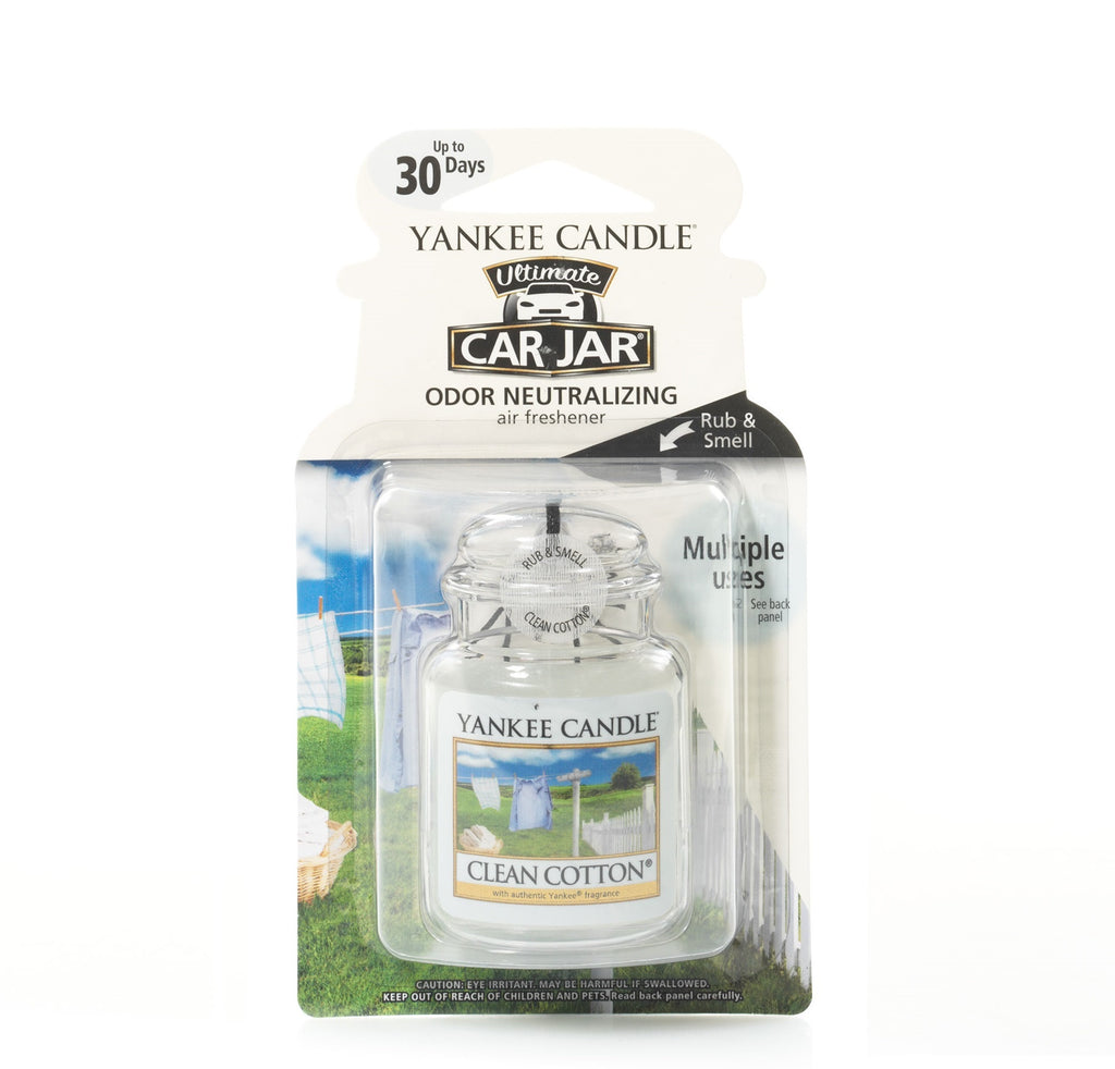 CLEAN COTTON -Yankee Candle- Car Jar Ultimate