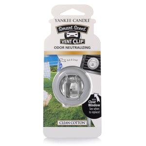 CLEAN COTTON -Yankee Candle- Smart Scent Vent Clip